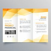 Abstract Orange Trifold Creative Brochure Design Template poster