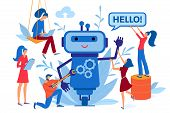 Chatbot, Chat Bot, Robot Development, Automation Process, Artificial Intelligence, Virtual Assistant poster