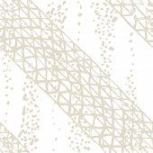 Organic Minimal Grid. Batik Tie Dye Border. Stencil Japan Background. Watercolor Shoji Design. Kimon poster