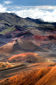 This Mage Shows The Lunar Landscape Of Haleakala Crater On Maui, Hawaii