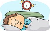 Illustration of a Man Oversleeping