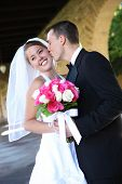 Постер, плакат: Невеста и жених на свадьбе