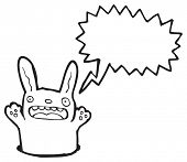 picture of rabbit hole  - cartoon rabbit in hole - JPG