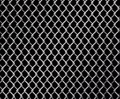 foto of chain link fence  - Abstract vector illustration of a wire linked fence - JPG