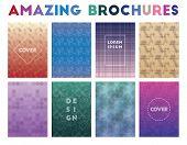 Amazing Brochures. Admirable Geometric Patterns, Amazing Vector Illustration. poster
