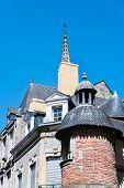 Постер, плакат: Старые дома в средневековом городе Бретон