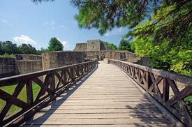 foto of suceava  - Medieval ruins of Suceava fortress in Moldavia - JPG