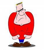 picture of thug  - A cartoon hard man thug looking mean and dangerous - JPG