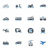 picture of rickshaw  - This set contains 16 transportation icons that can be used for designing and developing websites - JPG