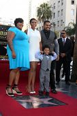 LOS ANGELES - NOV 13:  Julia Hudson, Jennifer Hudson, David Daniel Otunga, David Otunga at the Jenni