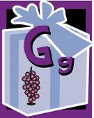 stock photo of nouns  - Flash Card Letter G nouns - JPG