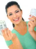 picture of holding money  - save energy concept - JPG