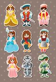 pic of wench  - Cartoon Medieval People Stickers - JPG