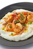 stock photo of southern  - shrimp and grits - JPG