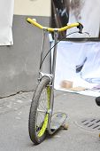 picture of unicycle  - The photo of unicycle on street in St - JPG