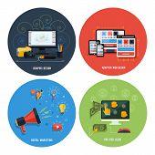 ������, ������: Icons For Web Design Seo Social Media