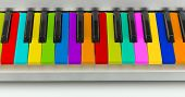 image of rainbow piano  - Background of colorful piano keyboard - JPG