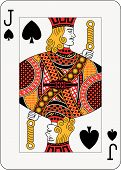 stock photo of playing card  - Jack of spades playing card  - JPG