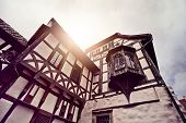 stock photo of timber  - historic half timbered house in Eisenach - JPG