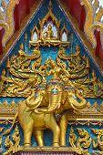 picture of apex  - Medium shot Golden Gable Apex Thai Temple - JPG