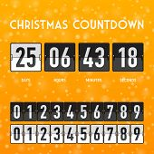picture of countdown timer  - Christmas or New Year countdown timer - JPG