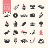 picture of french pastry  - Pastry and bakery products quality icons that can be used on set - JPG