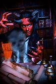 picture of hades  - Horned Devil in his home - JPG