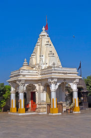 picture of durga  - . Hindu temple of Mother Durga in the town Porbandar, Gujarat - JPG