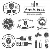 stock photo of alcoholic beverage  - Collection of vintage logo - JPG