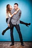 picture of piggyback ride  - Love people and happiness oncept - JPG