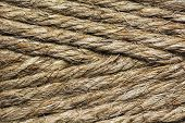 stock photo of coil  - background of coiled rope or string tied - JPG