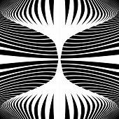 picture of distort  - Design monochrome movement illusion background - JPG