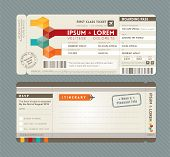 pic of boarding pass  - Modern Boarding Pass Ticket Wedding Invitation graphic design vector Template - JPG
