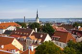 image of olaf  - Top view on beautiful colorful buildings of Old Town TALLINN ESTONIA - JPG