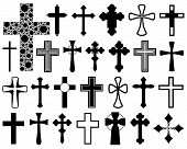 pic of jesus sign  - Set of different crosses isolated on white - JPG