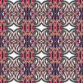 pic of decoupage  - authentic seamless floral geometric pattern - JPG