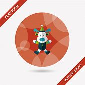 picture of rudolph  - Reindeer Flat Icon With Long Shadow - JPG