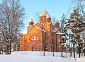 stock photo of church  - City lutheran church of Lappeenranta - JPG