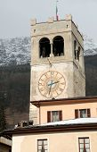 pic of italian alps  - Clock tower in Bormio  - JPG