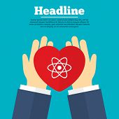 foto of atom  - Helping hands with heart - JPG