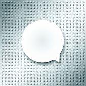 image of bubble sheet  - blank bubble on emboss texture pattern - JPG