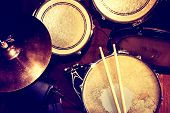 foto of drum-set  - Drums conceptual image - JPG