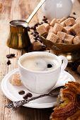 foto of pot roast  - Espresso Coffee cup with Coffee pot - JPG