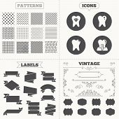 picture of tooth  - Seamless patterns - JPG