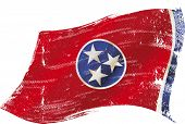 stock photo of memphis tennessee  - Tennessee grunge flag - JPG