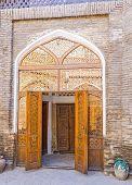 picture of caravan  - The hotel in the medieval building of restored Caravan Saray Bukhara Uzbekistan - JPG
