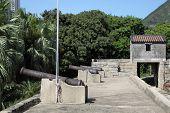 image of lantau island  - historic Tung Chung fort in Hong Kong - JPG