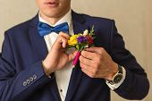 stock photo of boutonniere  - groom - JPG