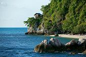 stock photo of tropical birds  - a hut on tropical birds nest island - JPG