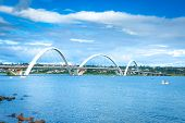 picture of brasilia  - JK Bridge in Brasilia - JPG